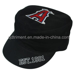 Washed Print Raw Edge Applique Embroidery Military Cap Hat (TRM019) pictures & photos