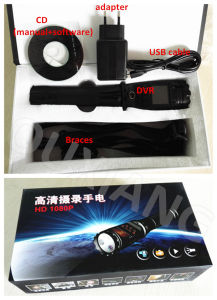 8000mAh Battery 32g Memory Police Camera with Flashlight pictures & photos