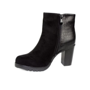 Black Shoes Chunky Heel Sex Lady Ankle Boot pictures & photos