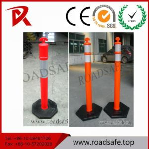 Recycled Plastic Road Fence Post Rubber Base Bollard T Top Post Warning Spring Delineator Post pictures & photos