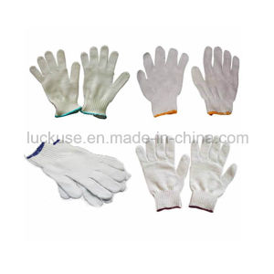 7 Gauge Bleach Color Working Cotton Glove (JF-CT030)