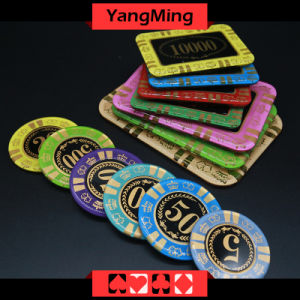 Anti - Counterfeiting Crystal Poker Chips of Round Shape Casino Chips / Can Custom (YM-CP001) pictures & photos