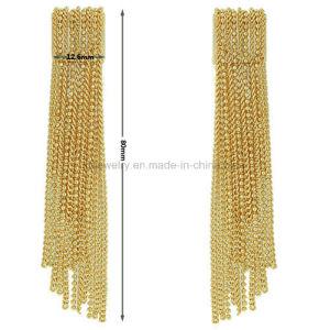 Brass Tassels Jewelry Earrings Plated Eardrop for Lady (KE3100) pictures & photos