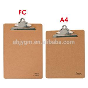 MDF A4/FC Clip Board/Metal Clip Board pictures & photos