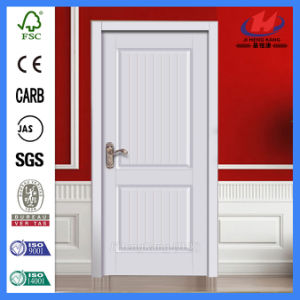 White Primer Moulded HDF/ MDF Interior Panel Swing Wooden Door (JHK-017) pictures & photos