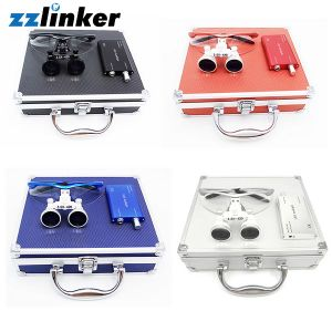 Lk-T03A Colorful Dental Loupes with Light 2.5times/3.5times pictures & photos