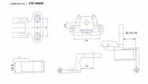 270 Degree Hinge Furniture Hinge pictures & photos