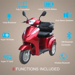 500W/700W 3 Wheel Electric Disabled Scooter with Disk Brake (TC-022A) pictures & photos