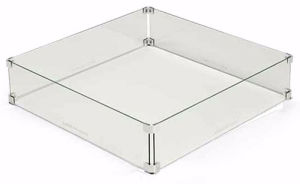 Fireglass Fire Pit Glass Wind Guard, Square pictures & photos
