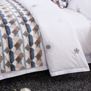 China Wholesale Deluxe Cotton Hotel Cotton Bed Cover pictures & photos