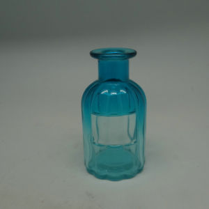 130ml Special Design Round Shape Blue Glass Diffuser Bottle pictures & photos