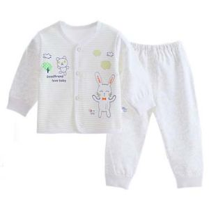 100% Cotton Autumn Long Sleeve Pants Two Sets Baby Underwear pictures & photos