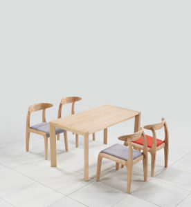 4 Seats Wood Dining Table Chair Set for Japanese Restaurant pictures & photos