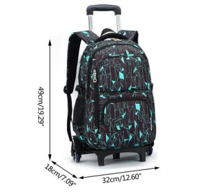 Rolling Bag with Wheels Removable Hand Trolley Kids Trolley School Bag pictures & photos