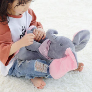 Plush Elephant Peek a Boo Electric Toy with Flapping The Ears with Talking pictures & photos