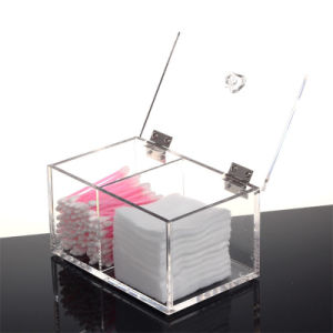 Cosmetic Organizer Acrylic Makeup Case Cotton Box Lipstick Holder pictures & photos