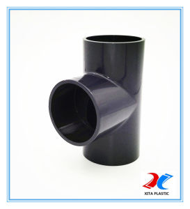 PVC Material Tee/ Socket Tee DIN Standard for Water Supply pictures & photos