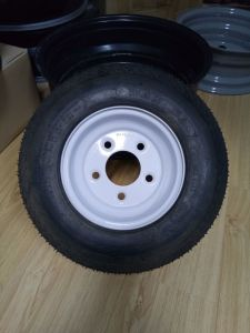 4.8-8 Trailer Wheel 8X3.75 Steel Wheel Mouted with 4.8-8 Trailer Tire pictures & photos