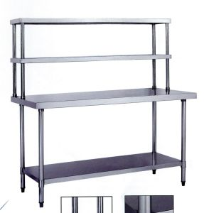 Commercial Stainless Steel Workbench with Shelves (DM18-6-900) pictures & photos