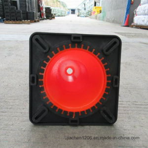 Jiachen Factory Wholesale 18inch PVC Black Base Traffic Cone pictures & photos