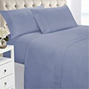 300tc White 100% Cotton Stripe Hotel/Home Queen Bed Linen pictures & photos