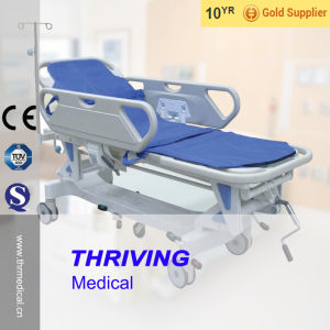 Hospital Rise-and-Fall Manual Patient Transfer Stretcher (THR-111) pictures & photos