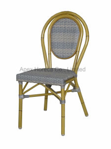 Paris Chair Bamboo Look Chair Aluminum Rattan Cafe Outdoor Furniture pictures & photos