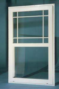 American Style Aluminum Single Hung Double Glazing Window pictures & photos