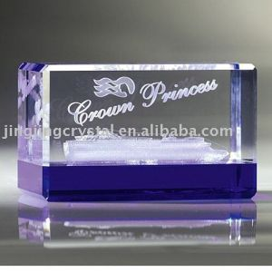 Crystal 3D Laser Table Decor with Base (JD-ND-104) pictures & photos