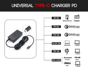 45W Type C Charger Pd for MacBook DELL HP Lenovo pictures & photos