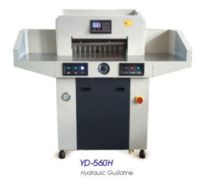 Hydraulic Program-Control Paper Guillotine YD-560H pictures & photos