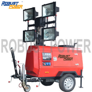 4000W Good Quality Industrial Power Portable Lighting Tower 9m pictures & photos