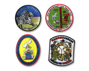 Embroidered Badges with Merrowed Border pictures & photos