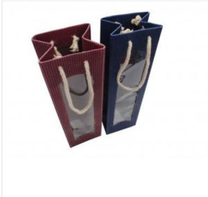 Kraft Paper Bag Shopping Industry Use Paper Wine Bag (MECO496) pictures & photos