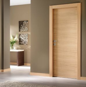 Walnut Veneer Flush Wooden Main Door Design pictures & photos