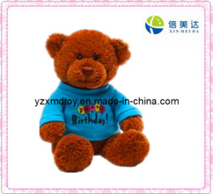 Plush Teddy Bear Toy with Blue Shirt (XMD-F032) pictures & photos