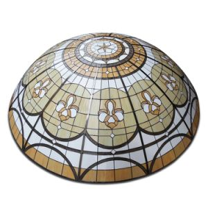 Architecture Tile Roofing Metal Frame Materials Big Stained Glass Dome pictures & photos