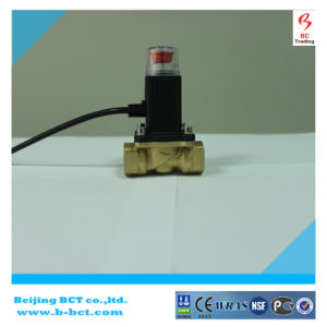 Gas solenoid with Detector valve brass body yellow color BCT-SV-2 pictures & photos