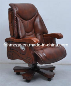 High End Office Chair with Wooden Arms and Legs, Boss / CEO / Chairman Chair (FOH-1221) pictures & photos