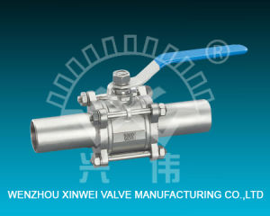 Three-Piece Model Extended Ball Valve pictures & photos