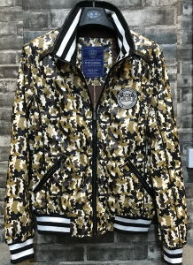 2016 New Man PU Camo Rib Collar Bomber Jacket pictures & photos