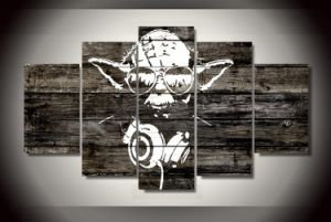 HD Printed Yoda Star Wars Painting Canvas Print Room Decor Print Poster Picture Canvas Mc-142 pictures & photos