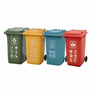 Recycle Plastic Dustbin for Reducing Pollution (FS-80240B) pictures & photos