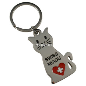 Cat Shaped Keychain with Swiss Logo pictures & photos