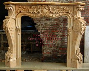 Natural Marble Fireplace Mantel (sk-2552) pictures & photos