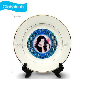 Personalized Decorative Gold Rim Plate for Sublimation 10 pictures & photos