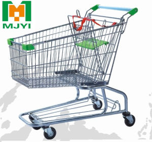 180 Liters Retail Store Convenient Supermarket Shopping Trolley pictures & photos