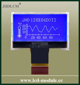 One LED Light Small LCD Module with Clear Screen (JHD12864-G06BOW-B)