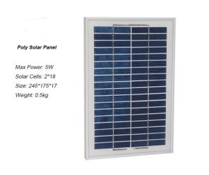 12V Poly 5W Solar Panel for Solar Lighting System pictures & photos