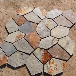 Natural Multicolor Slate Flagstone Pattern (SMC-R045) pictures & photos
